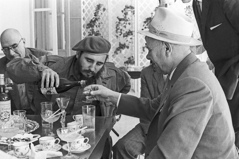 Фидель Кастро и Николай Подгорный. Гавана. 1970 год