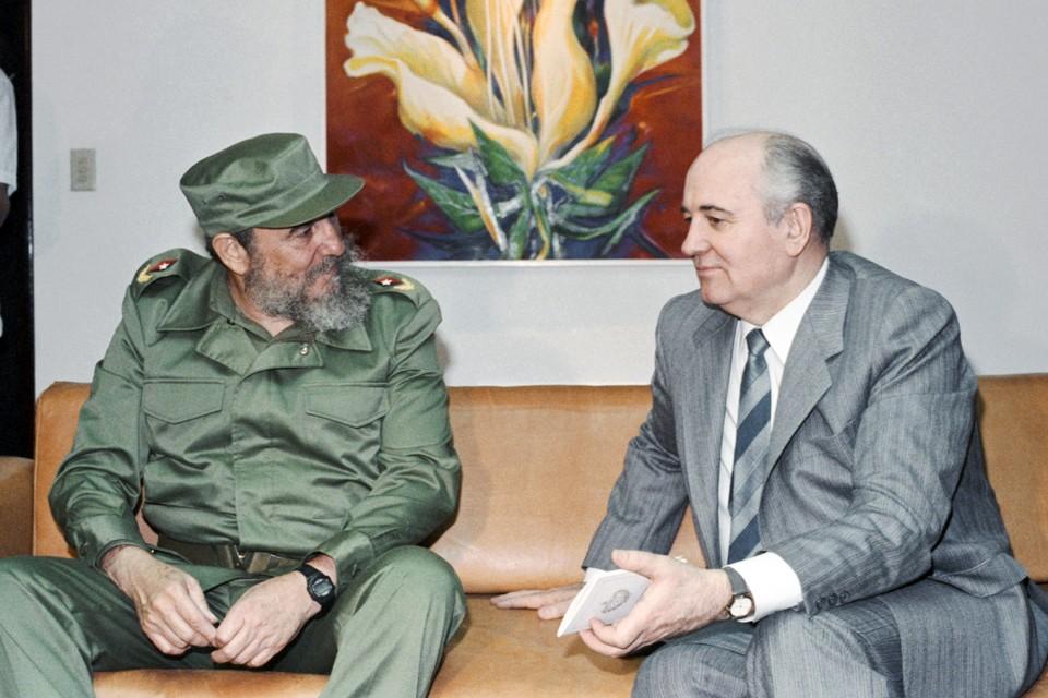 Визит Михаила Горбачева на Кубу. 1989 год