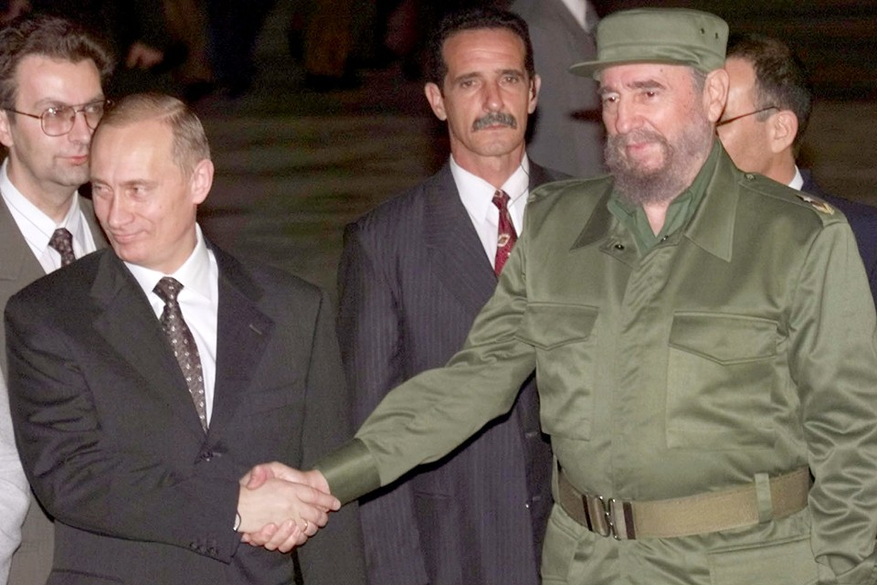 Фидель Кастро и Владимир Путин. 2000 год