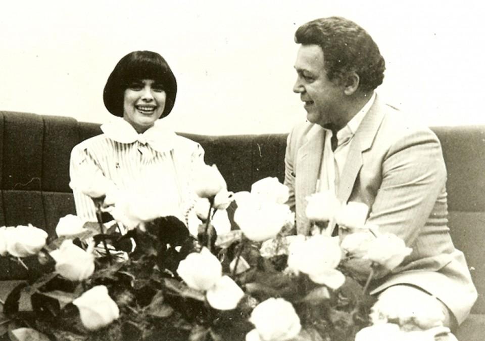 Иосиф Давыдович и Мирей Матье