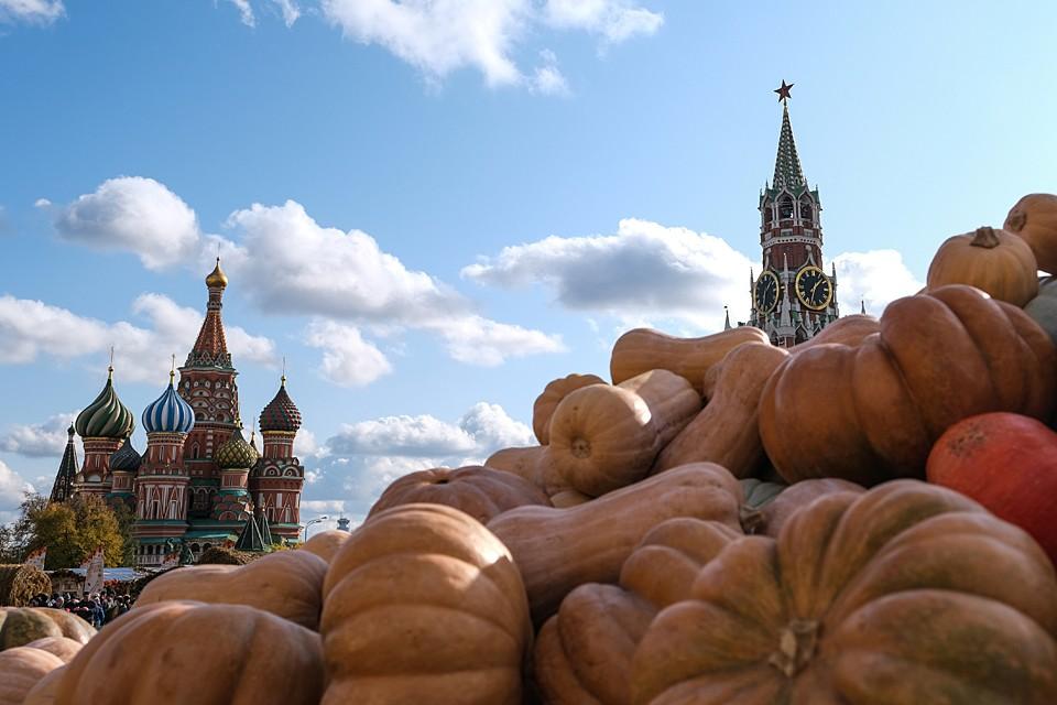 На Красной площади в Москве проходит фестиваль «Золотая осень»