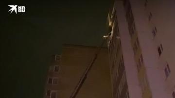 Балкон поврежден после взрыва в доме Всеволожска