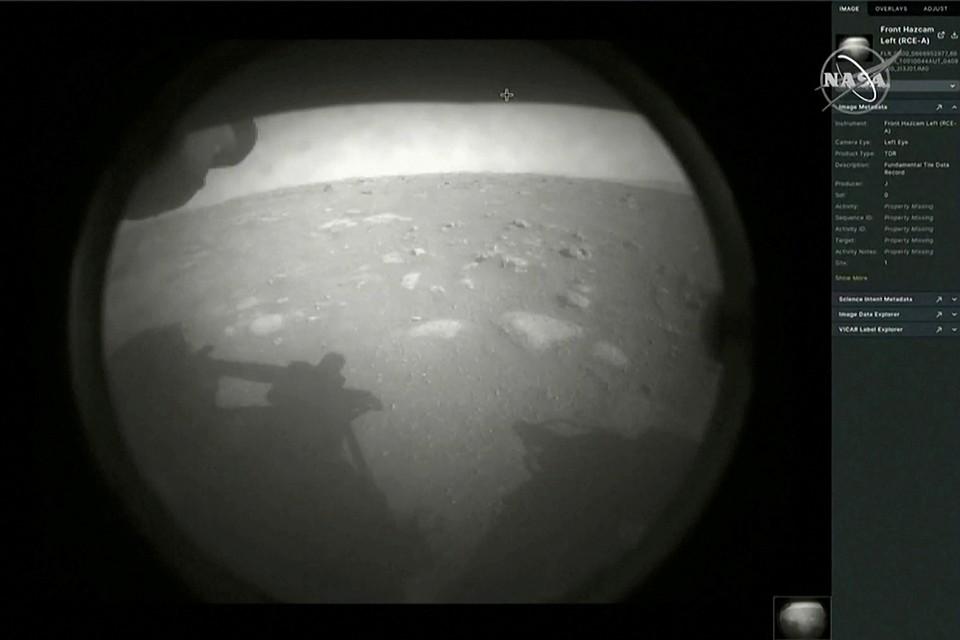 Марсоход NASA Perseverance успешно совершил посадку на поверхность Марса