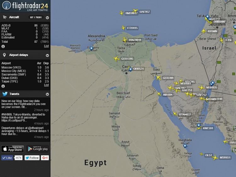 За маршрутом российского самолета следят все мировые СМИ. Фото: Twitter