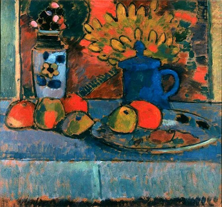 Натюрморт с цветами и фруктами. Алексей Явленский. Сайт expressionists.ru