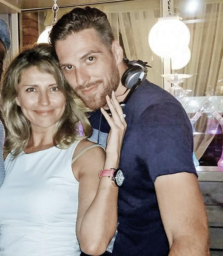 Екатерина и ее новый возлюбленный - француз Тим Давиз.
