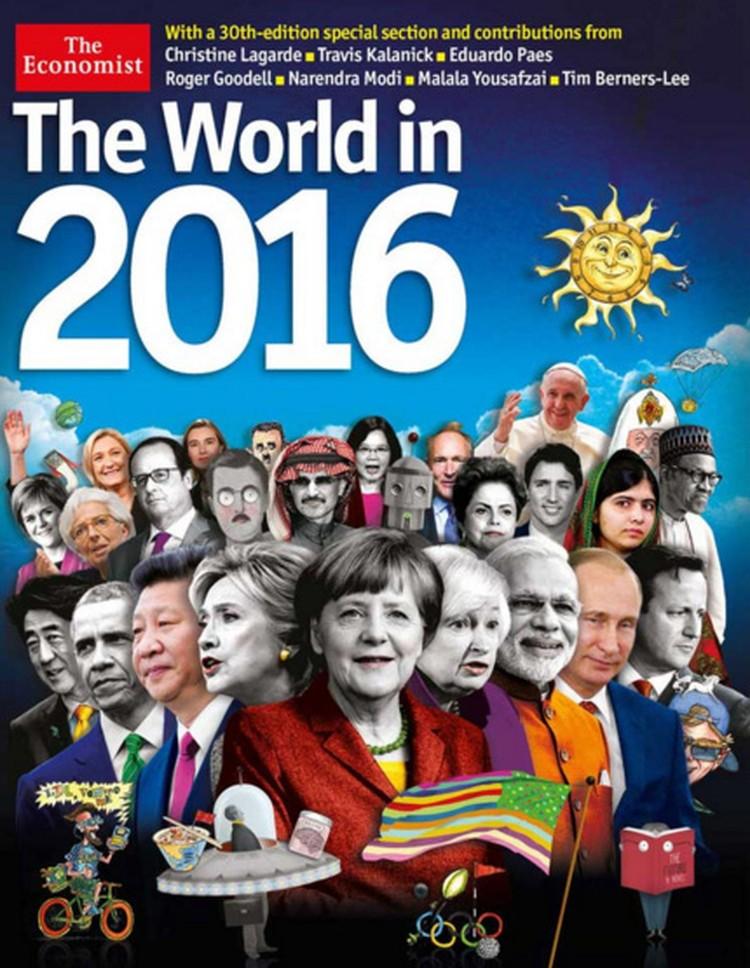 """Настоящая обложка влиятельного журнала """"Экономист"""""""