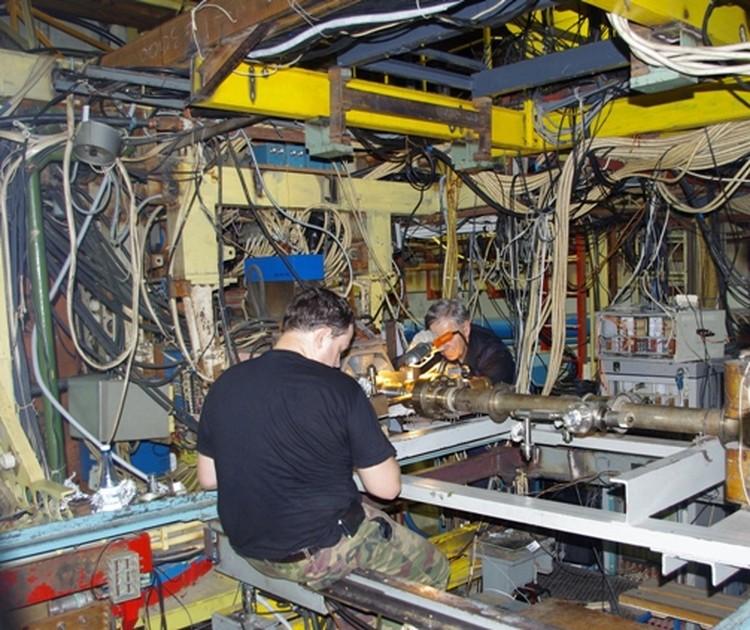 Экспериментальный промежуток накопителя ВЭПП-3. Фото: пресс-служба ИЯФ СО РАН