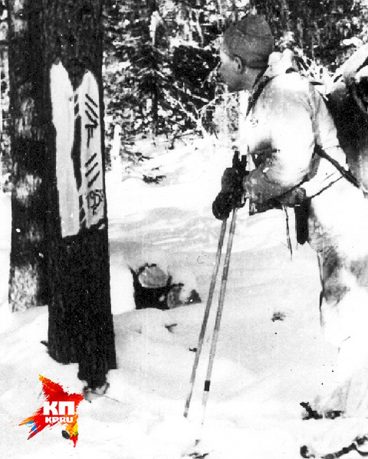 """Знак манси, который сфотографировали """"дятловцы"""" по пути на перевал."""