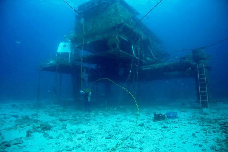 Так выглядит подводный дом в Атлантическом океане. ФОТО: сайт НАСА
