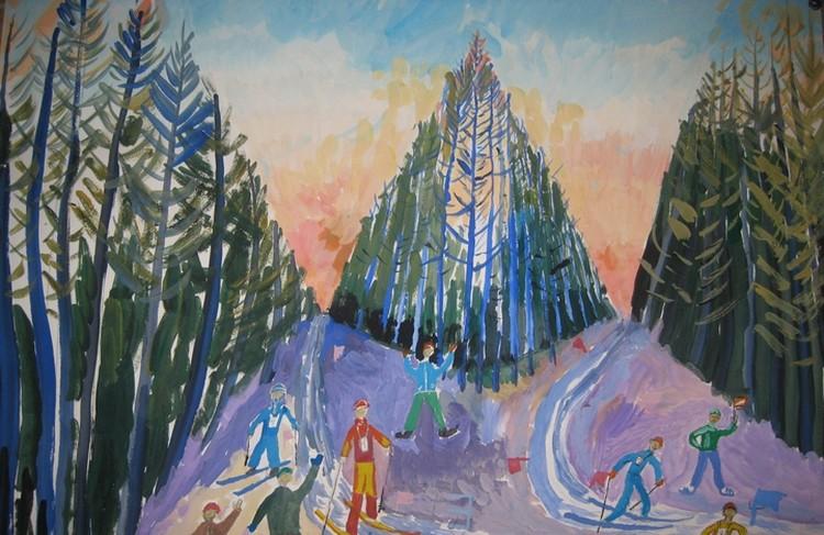 Космический парк в рисунках детей из Листвянки. Фото: Департамент лесного комплекса Кемеровской области