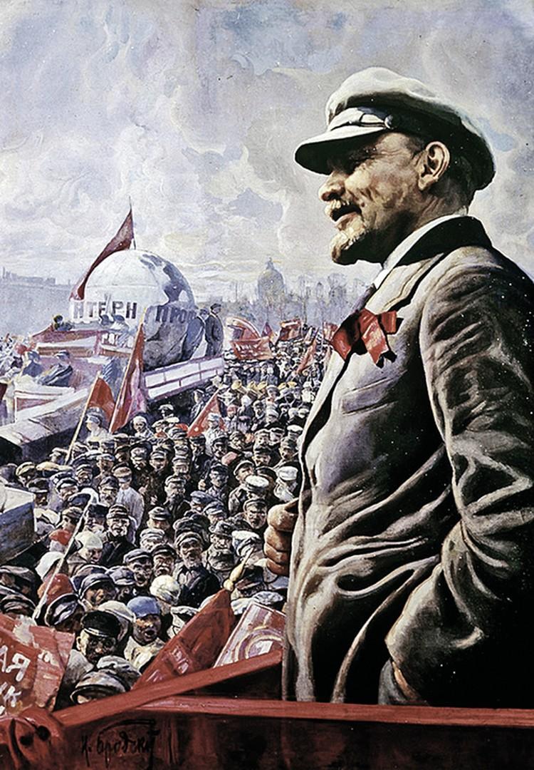 Ленин мечтал о том, что в состав его нового государства постепенно войдут все страны Европы и Азии на правах союзных республик. (Картина Исаака Бродского «В. И. Ленин на трибуне 1 мая 1920 года».)