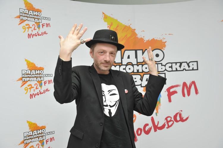 """Музыкант Глеб Самойлов на Радио """"Комсомольская правда"""""""