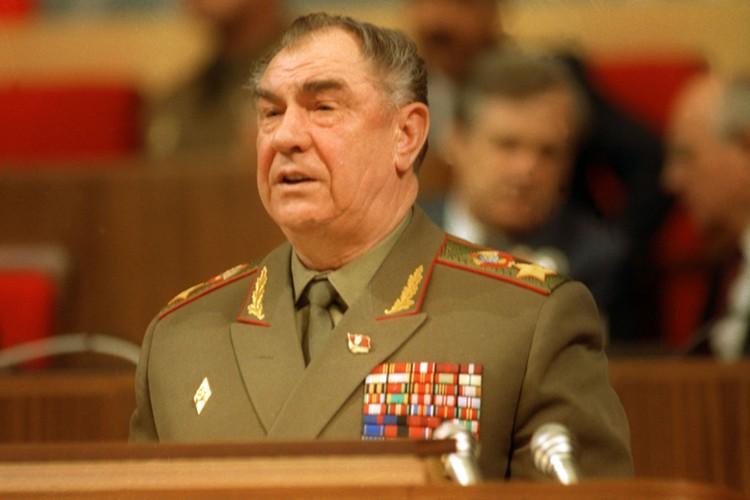 Министр обороны СССР маршал Дмитрий Язов в 1990 году Фото: Александр Чумичев /Фотохроника ТАСС/