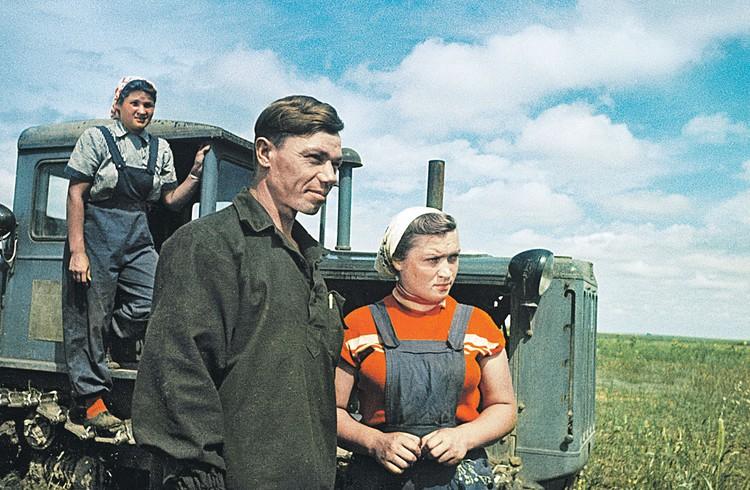 Фото тружеников целины украшало все советские газеты. Но в итоге проект не принес зернового изобилия. Фото: РИА Новости
