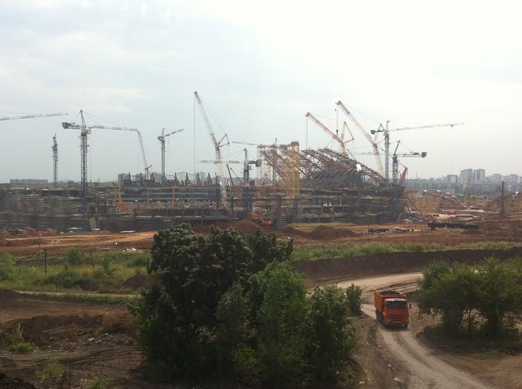 Стройка в Самаре идет полным ходом. Это будет самый грандиозный стадион в России