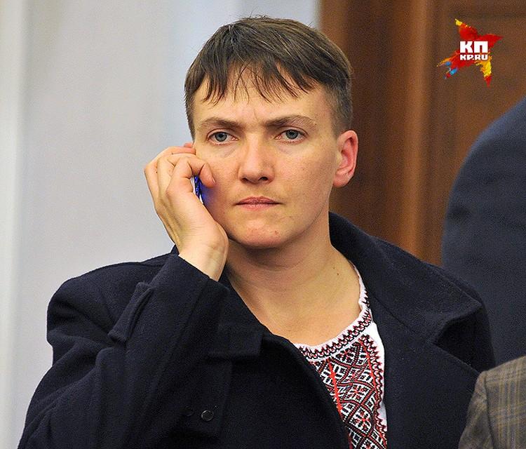 Надежда Савченко в зале Верховного суда РФ.