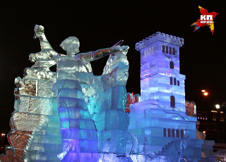 Образы городов России будут собирательными в виде знаковых строений или памятников, которые мастера выполнили изо льда.