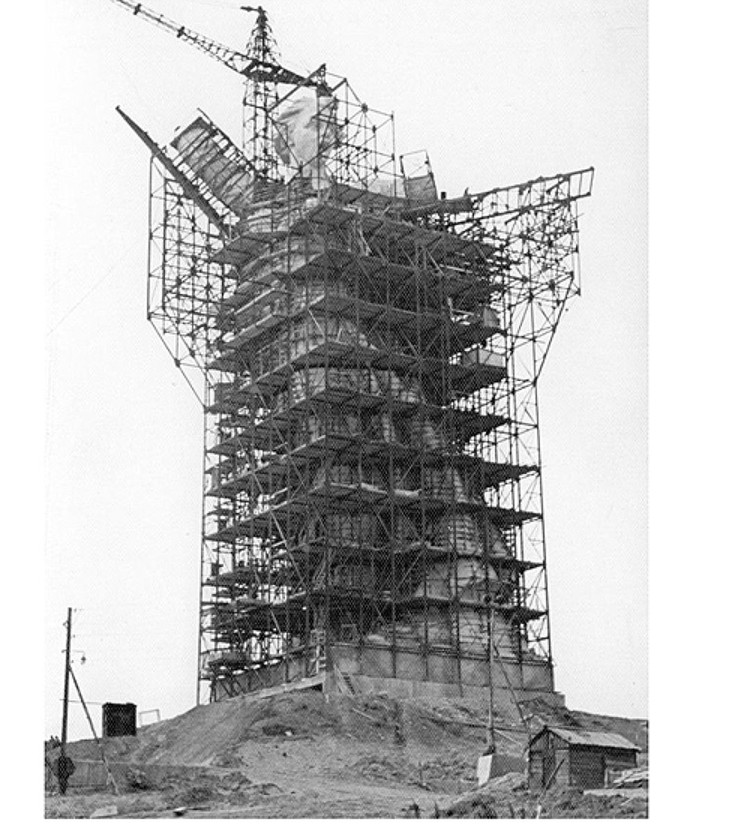 """В последний раз в строительных лесах скульптура была в 1965 году. Фото: музей-заповедник """"Сталинградская битва"""""""
