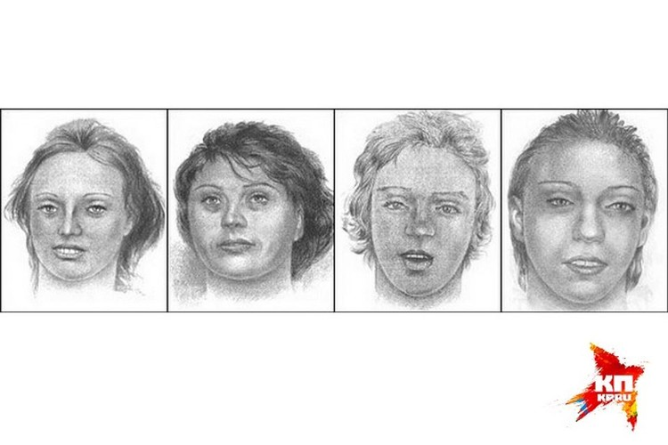 Портреты пропавших с «пьяной дороги» проституток. Фото: СКР по Новосибирской области
