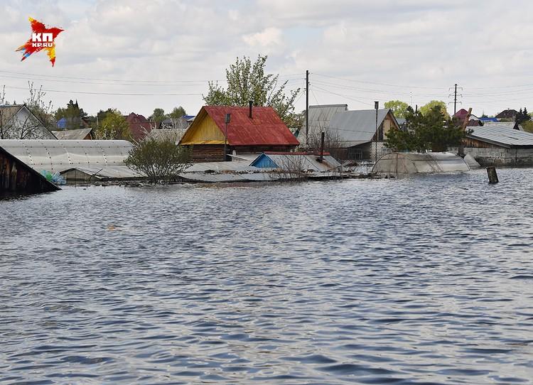 Пострадавшие от наводнения районы.