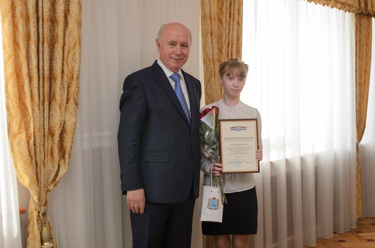 Юлия Кузнецова из 8-го класса школы села Большая Черниговка заработала 152 «пятерки».