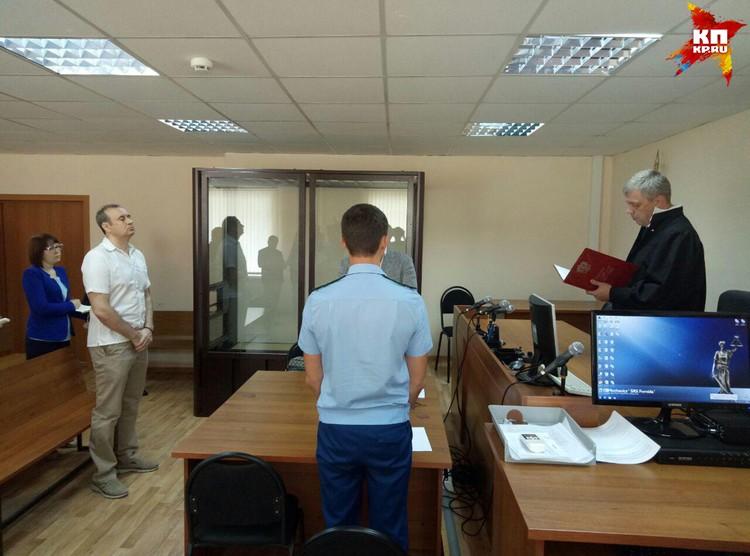 Вячеслав Истомин пришел на оглашение приговора в хорошем настроении.