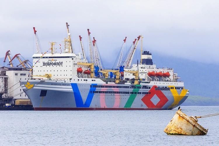 """Доброфлот» - единственная компания, которая возит рыбу через Северный морской путь. Фото: Предоставлено ГК """"Доброфлот"""""""