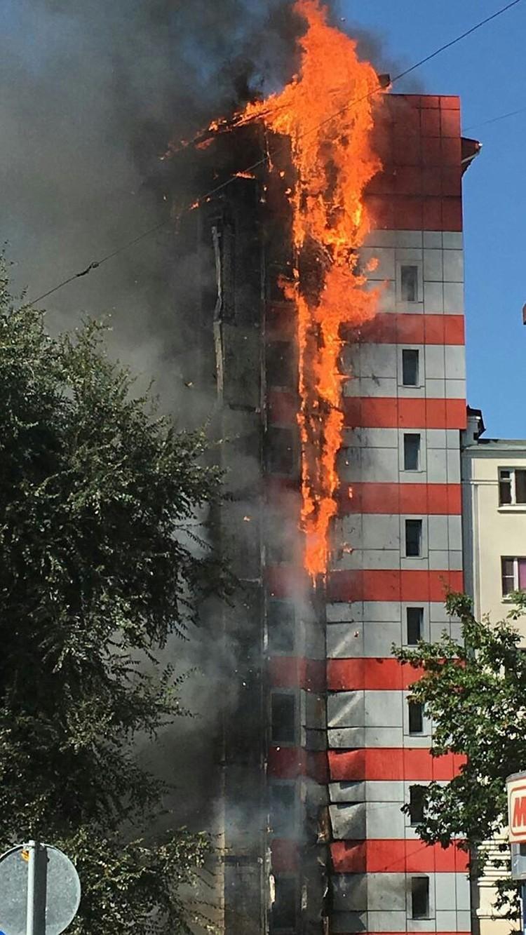 Гостиница сгорела как факел за считанные часы