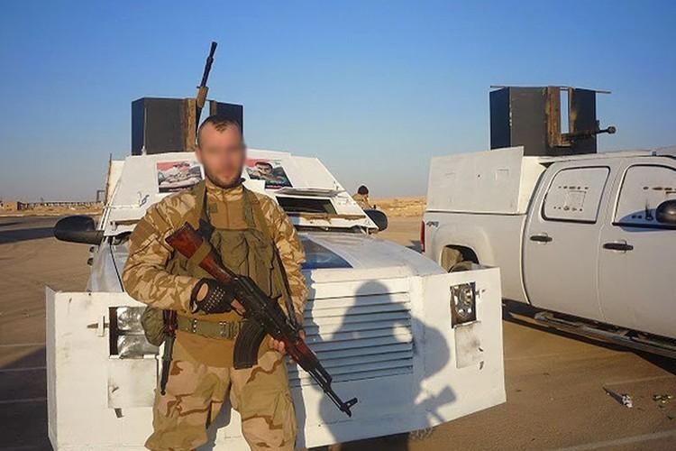 """Российский """"солдат удачи"""" в составе штурмовых групп правительственных сил Сирии."""