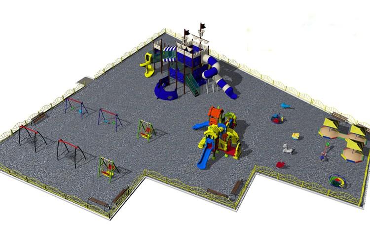 Проект детской площадки в Пушкинском парке.