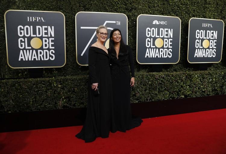 Мерил Стрип пришла на церемонию с режиссером Айген Поо.