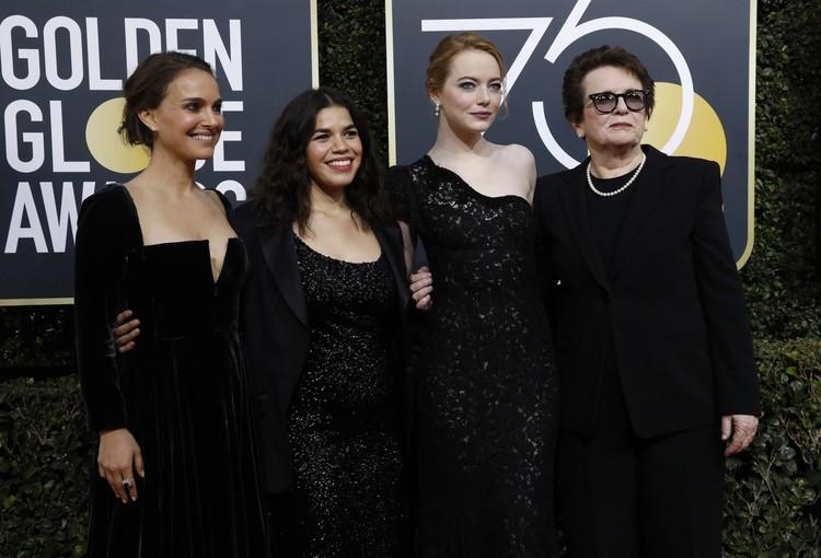 Слева направо: Натали Портман, Америка Феррейра, Эмма Стоун, Билли Джим Кинг.