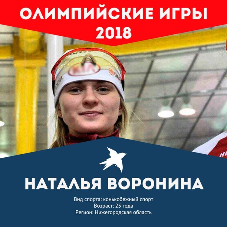 Болеем за наших: Наталья Воронина.