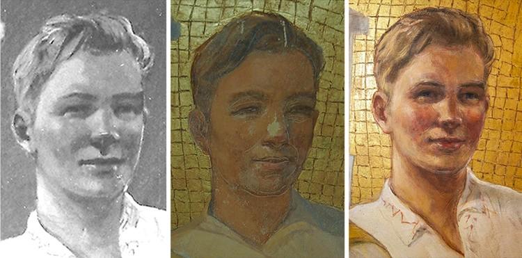 Сотрудники мастерской Китеж уверяют, что вернули фрескам первоначальный вид образца 1953 года, утраченный в ходе некачественной реставрации восьмидесятых