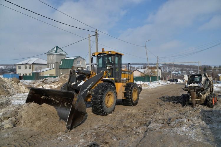 Собранный снег будут вывозить из Саратова по ночам.