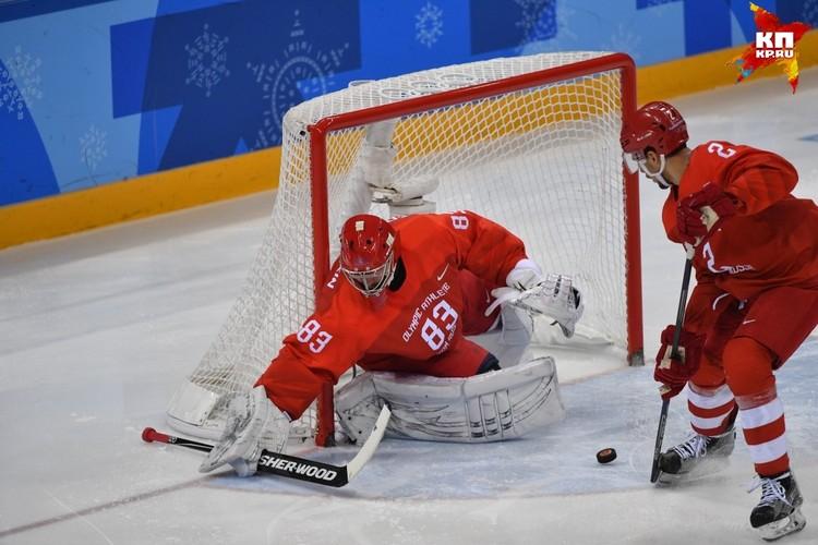 Один из главных героев финала - вратарь сборной России Василий Кошечкин