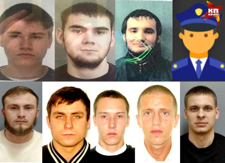 Четырех подозреваемых в нападении на боксера (в верхнем ряду на фото) задержали, еще пятеро до сих пор находятся в розыске.