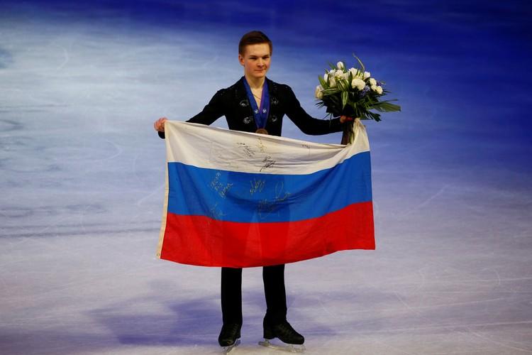 Михаил Коляда с бронзовой медалью