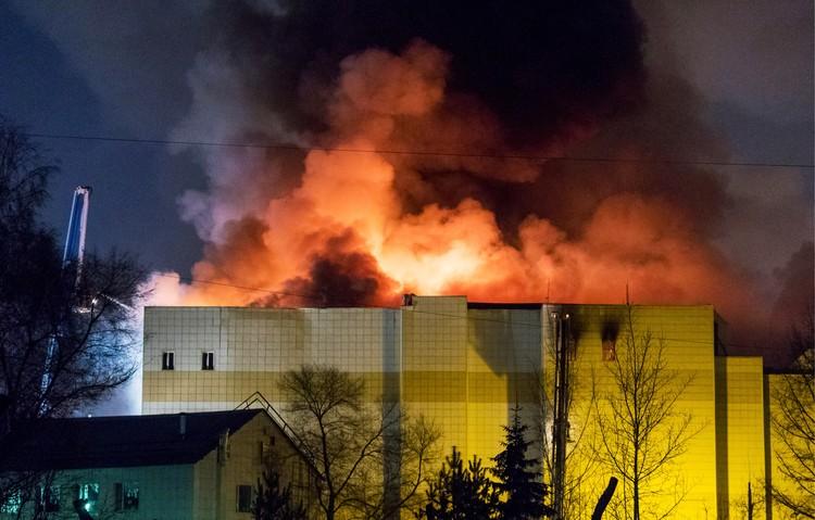 Огонь распространился больше чем на 1500 квадратных метров Фото: Данил Айкин/ТАСС
