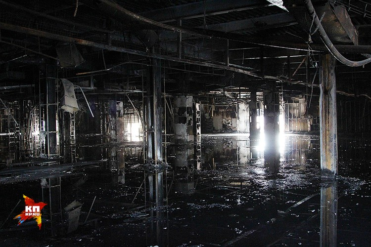 Последствия пожара в торговом центре