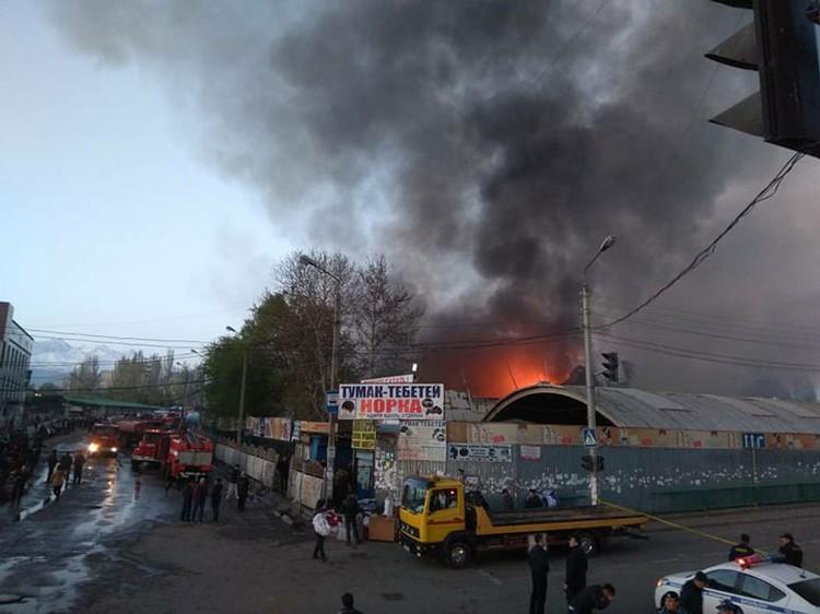 С начала года это уже третий пожар на крупнейшем рынке столицы.