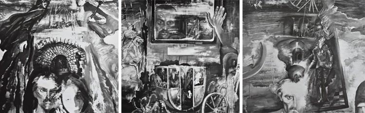 Некоторые сцены художник-постановщик «Черного замка Ольшанского» Валерий Назаров зафиксировал на эскизах предельно точно. Фото: архив Татьяны Логиновой
