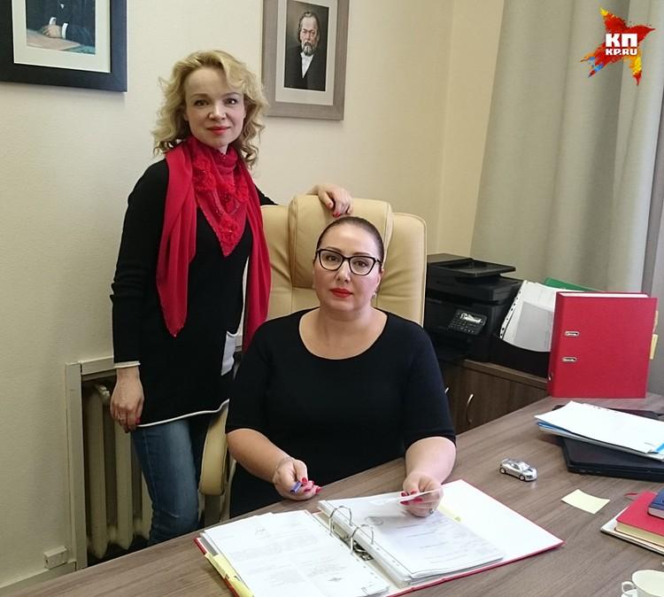 Экс-супруга Армена Джигарханяна Виталина Цымбалюк-Романовская со своим адвокатом Ларисой Широковой