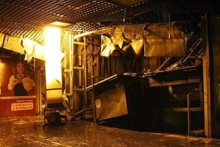 Первый этаж ТРЦ после пожара