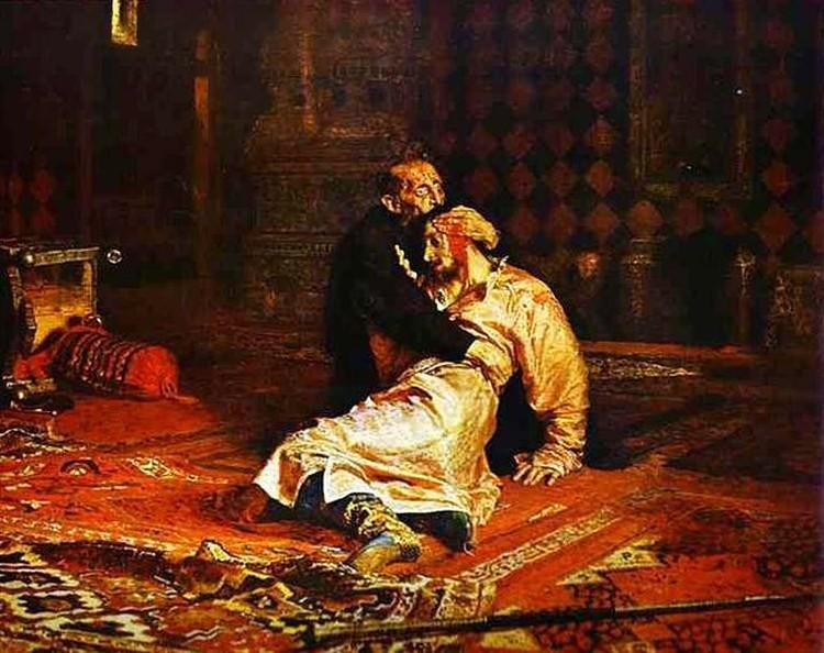 """Картина Ильи Репина """"Иван Грозный и сын его Иван"""" уже не в первый раз подвергается нападению."""