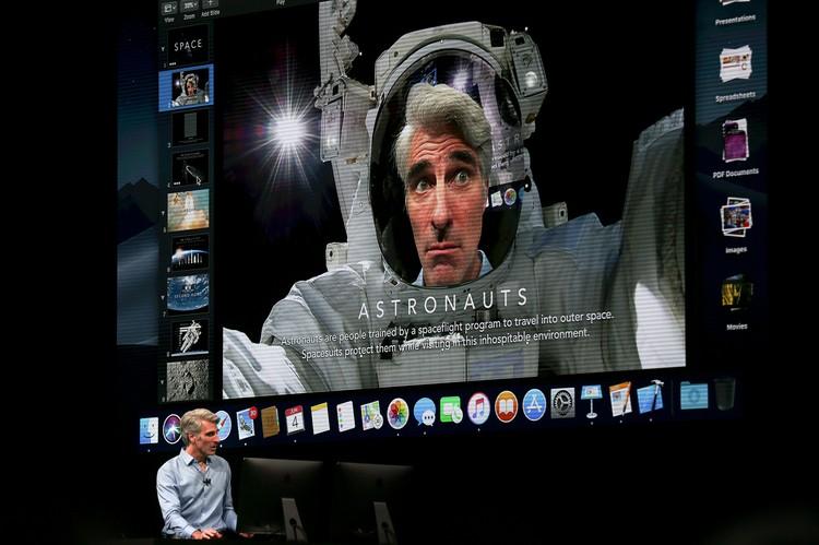 Старший вице-президент компании Крейг Федериги лично продемонстрировал возможности macOS Mojave