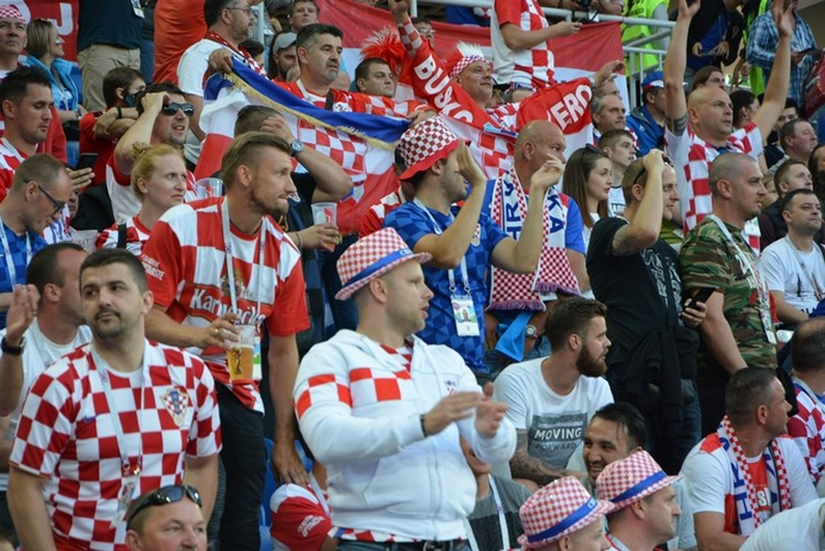 Хорватских болельщиков на трибунах было больше всех.