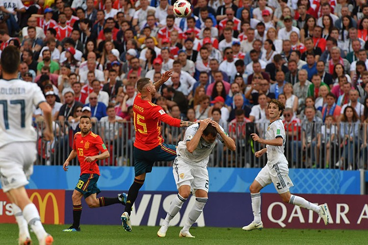 Матч Испания - Россия: основное и дополнительное время завершилось вничью 1:1