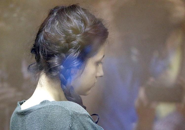 Кристина Хачатурян во время избрания меры пресечения в Останкинском суде. ФОТО Никеричев Андрей / АГН Москва